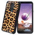 TalkingCase Black Hybrid Dual-Layer Phone Case for LG Stylo 4,Stylo 4 Plus,Leopard Print4 Print,Double-Layer,Armor Exterior,Soft Gel Interior Cover,Designed in USA
