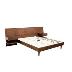 INK+IVY Clark King Bed w/ 2 Nightstands in Pecan - Olliix IIF19-0031