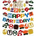 Super Mario Happy Birthday Banners, Mario Party Birthday Supplies Decoration, Super Mario Birthday Party,Birthday Party Banner Mario, Mario Birthday Supplies