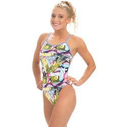 Women's Dolfin Uglies Printed String Back One-Piece Swimsuit, Size: 26, Multicolor
