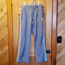 Adidas Pants & Jumpsuits | Adidas Pants, Light Gray With Light Blue, Size M | Color: Blue/Gray | Size: M