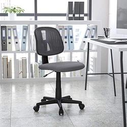 Flash Furniture Flash Fundamentals Mid-Back Gray Mesh Swivel Task Office Chair with Pivot Back