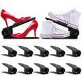 10PCS Shoe Slots - Shoe Stacker - Increase Space by 200% - Adjustable, 4 Level Shoe Space Saver - Durable Shoe Slots Organizer - Shoe Organizer with Double Decker Storage for Closet, Shoe Holder Rack