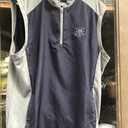 Adidas Tops | Adidas Mens Dark Blue Gray Short Vest Jacket | Color: Blue/Gray | Size: L