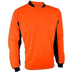 Vizari Youth Venezia GK Soccer Goalkeeper Jersey with Padded Elbows | for Boys and Girls (YXL, Orange/Black)