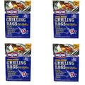 "Kingsford Extra Tough Aluminum Grill Bags, for Locking in Flavors & Easy Grill Clean Up, Recyclable & Disposable, 15.5"" x 10"", Pack of 4 (4)"
