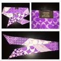 Coach Accessories | Authentic Coach Silk Scarf Purse Ribbon Hair Wrap Accessory | Color: Purple/White | Size: Os