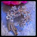 Nine West Jewelry   Beautiful Rhinestone Diamond Floral Brooch   Color: Gold   Size: Os