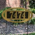 Fairway Classic II Yard Address Stake Gold/Bronze , Gold/Bronze