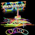 """Glow Sticks - 50 PCS - 8"""" Long Lasting Glow Sticks for Kids - 5 Colors - Best for Making Glow in the Dark Necklaces and Bracelets - Cool Party Supplies That Last Up to 12 Hours - Party Favors"""