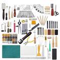 Joyeee 366Pcs Outils de Maroquinerie Kit Outils Cuir Outil de Bricolage Kit Couture DIY Artisanat Main Kit Outils Ensemble pour Coudre Estampage Sculpture en Cuir Accessoires de Couture