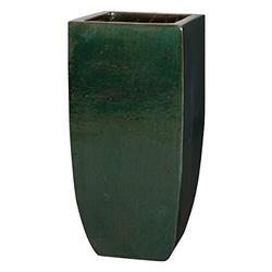 Emissary Home & Garden SQ Tall Planter Garden SEAT, Green