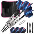 Viper Sidewinder Tungsten Steel Tip Darts 23 Grams and Casemaster Deluxe Pink Nylon Dart Case