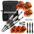 Viper The Freak Soft Tip Darts Knurled and Grooved Barrel 18 Grams and Casemaster Select Black Nylon Dart Case