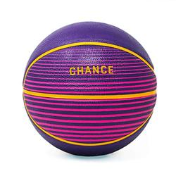 """Chance Premium Rubber Outdoor / Indoor Basketball (Size 5 Kids & Youth, 6 Women's Official, 7 Men's Official) (Size 27.5, 28.5, 29.5) (6 Women's Official - 28.5"""", Rise - Purple, Pink, Yellow)"""