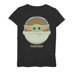 Girls 7-16 Star Wars The Mandalorian The Child aka Baby Yoda Cute Bassinet Tee, Girl's, Size: Large, Black