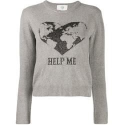 Intarsia-knit Jumper - Gray - Alberta Ferretti Knitwear
