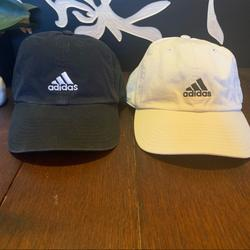 Adidas Accessories | 2 For $20 Adidas Black Hat And White Hat | Color: Black/White | Size: Os