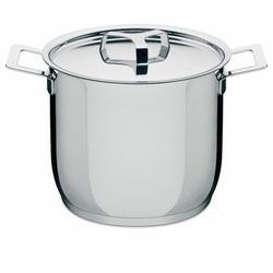Alessi Pots & Pans Stock Pot by Jasper Morrison Stock pot w/ LidStainless Steel in Gray, Size 8.1 H x 9.4 W in   Wayfair AJM100/24