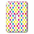 3dRose Super Bright Large Polka Dots 1-Gang Toggle Light Switch Wall Plate in Pink, Size Midsize/Midway | Wayfair lsp_78223_1