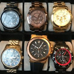 Michael Kors Accessories | 5 Michael Kors Watches + 1 Guess Watch + Watch Box | Color: Black/Brown | Size: Os