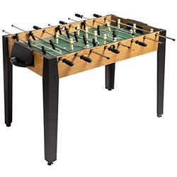 Giantex Foosball Table, Wooden Soccer Table Game w/Footballs, Suit for 4 Players, Competition Size Table Football for Kids, Adults, Football Table for Game Room, Arcades (48 inch, Wood)