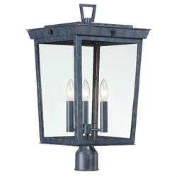 Crystorama Belmont 22 Inch Tall 3 Light Outdoor Post Lamp - BEL-A8069-GE