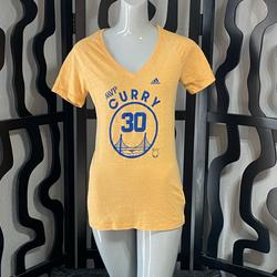 Adidas Tops | Adidas San Francisco Steph Curry Mvp T-Shirt | Color: Blue/Yellow | Size: L