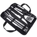BBQ Grill Tools Set Jhua Grill Kit 9pcs Barbecue Accessories Stainless Steel Grill Set Heavy Duty BBQ Grilling Accessories Tools Set with Carry Case Grill Accessorie Set for Men Women Camping Grilling