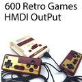 SKAL console jeux mini classic, Retro classique vidéo Jeu, Sortie TV HDMI 720p 1080p et deux manettes de jeu 8bit 600 Games FC Compact