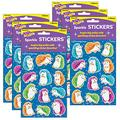 Trend Colorful Hedgehogs Sparkle Stickers, 24 Per Pack, 6 Packs