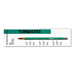 Sanford 2262 Prismacolor Turquoise Drawing Pencil, Black-HB, 1.98 mm, Dozen