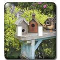 3dRose Bird Houses on Bench in Garden 2-Gang Toggle Light Switch Wall Plate in Green, Size 5.0 H x 4.5 W x 0.06 D in | Wayfair lsp_83234_2