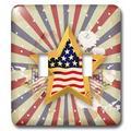 3dRose Grunge Style Stars & Stripes Patriotic American Flag Stars American American Pride Design 2-Gang Toggle Light Switch Wall Plate | Wayfair
