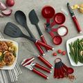 KitchenAid 15-Piece Tool & Gadget SetStainless Steel/Plastic in Gray/Red | Wayfair KE447BXERA