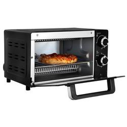 Total Chef 4-Slice Toaster Oven w/ Timer & Temperature Control in Black, Size 8.9 H x 14.6 W x 12.75 D in | Wayfair TCTO09