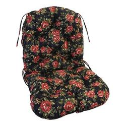 Red Barrel Studio® Swivel Rocker Indoor Seat/Back Cushion Polyester/Polyester blend in Black/Green/Red, Size 6.0 H x 24.0 W x 48.0 D in   Wayfair