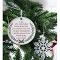 The Holiday Aisle® I Am Who I Am Today Design Printed Round Holiday Shaped Ornament Wood in Brown/White, Size 3.75 H x 3.75 W x 0.13 D in | Wayfair