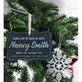 The Holiday Aisle® Forever in Our Hearts Printed Memorial Holiday Shaped Ornament Wood in Blue/Brown, Size 2.5 H x 4.0 W x 0.13 D in | Wayfair