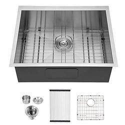 23 Bar Sink Undermount - Logmey 23 X 18 inch Stainless Steel Bar Sink Undermount Kitchen Sink Single Bowl 18 Gauge Stainless Steel RV Sink Bar Prep Sink Basin