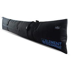 Element Equipment Padded Ski Bag Adjustable Fits Travel Ski Bag Black/Blue