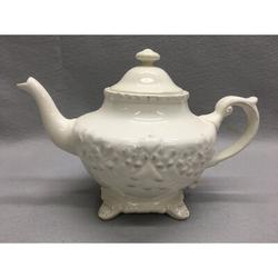 One Allium Way® Lessing 20 -oz. Porcelain China Teapot in White, Size 9.5 H x 6.0 W x 6.0 D in   Wayfair C2A4AF7CB1AB4937A3DD516911667471