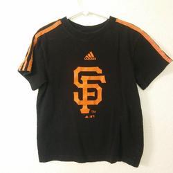 Adidas Shirts & Tops | Adidas San Francisco Giants Short Sleeve T-Shirt | Color: Black/Orange | Size: M (56)