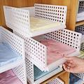 Yoillione White Wardrobe Closet Organizers Clothes Storage Organizer Wardrobe Shelve,Sinside Closet Organizer Container Closet Storage Drawers,Plastic Bathroom Kitchen Cupboard Organizer