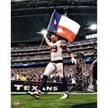 """Fanatics Authentic J.J. Watt Houston Texans Unsigned Texas Flag Photograph"""