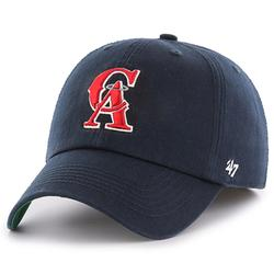 Men's '47 Navy California Angels Cooperstown Collection Franchise Logo Fitted Hat