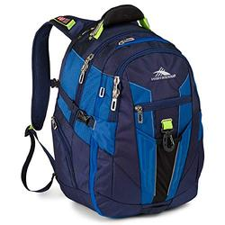 High Sierra XBT - Business Laptop Backpack, True Navy/Royal Cobalt/Chartreuse, One Size