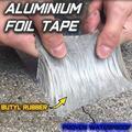 Super Waterproof Tape Butyl Rubber Aluminium Foil Tape Aluminum Foil Butyl Tape Professional Super Butyl Rubber Foil Tape Adhesive Fusing Waterproof Sealing Strip Roll (1.2mm5cm10m),1.2mm5cm10m,1.