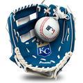 "Franklin Sports MLB Youth Teeball Glove and Ball Set - Kids Kansas City Royals Baseball and Teeball Glove and Ball - Perfect First Kids Glove - 9.5"""