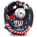 "Franklin Sports MLB Youth Teeball Glove and Ball Set - Kids Washington Nationals Baseball and Teeball Glove and Ball - Perfect First Kids Glove - 9.5"""